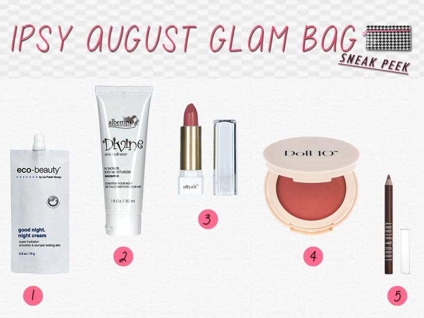IPSY AUGUST GLAM BAG